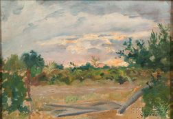 Gaston Sébire (French, 1920-2001)      Sunset Landscape.