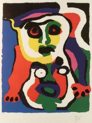 Karel Appel (Dutch, b. 1921)  Figure