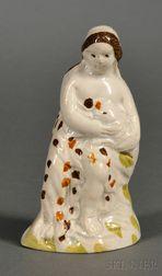 Small Pratt-type Staffordshire Pearlware Figure