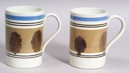Pair of Large Mocha Mugs