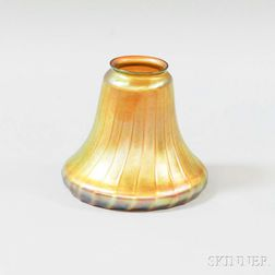 Ribbed Gold Iridescent Glass Shade