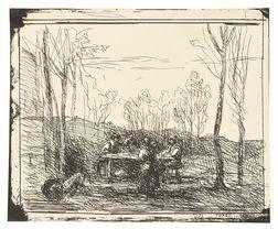 Jean-Baptiste-Camille Corot (French, 1796-1875)      Un déjeuner dans la clairière