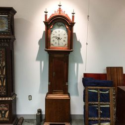 Butternut Tall Case Clock with Moonphase Dial
