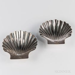 Pair of George III Sterling Silver Shell Dishes