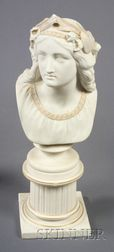 Copeland Parian Bust of Oenone