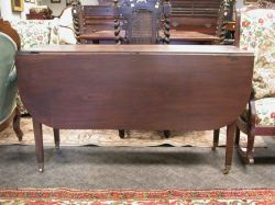 Federal Inlaid Mahogany Drop-leaf Table.
