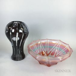 Two Modern Art Glass Sculptures