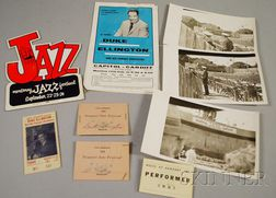 Group of Duke Ellington Concert Ephemera