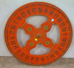 Painted Wooden Wheel of Chance