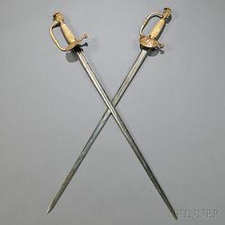 Two Knight's-head Pommel Swords