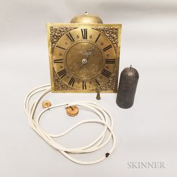 Thirty-hour Tall Clock Movement and Dial