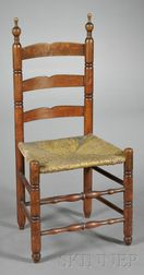 Cherry and Ash Turned Slatback Side Chair