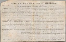 Adams, John Quincy (1767-1848) Document Signed, 10 March 1825.