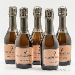 Billecart Salmon Brut Rose NV, 5 demi bottles