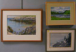 American School, 20th Century      Three Landscapes:   Coastal View