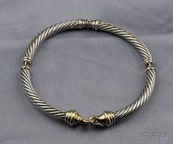 Sterling Silver and 14kt Gold Necklace, David Yurman