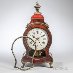 Faux Tortoiseshell Boulle Mantel Clock