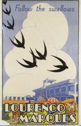 (South) African School, 20th Century  Follow the Swallows Lourenco Marques.