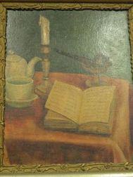 Framed Oil Table-Top Still Life