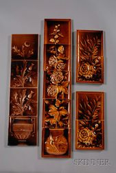 Thirteen Decorated Tiles: Various Makers