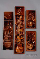 Thirteen Decorated Tiles: Various Makers
