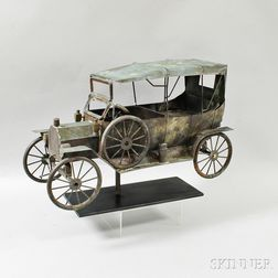 Molded Copper Automobile Weathervane