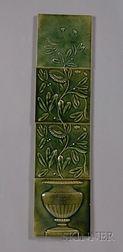 Four Decorated Tiles: J. & J.G. Low Tileworks