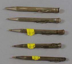 Five Silver Pencils