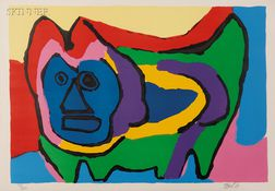 Karel Appel (Dutch, 1921-2006)      Untitled (Cat)