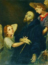 Italian School, 17th Century Style      Saint Francis in Ecstasy.