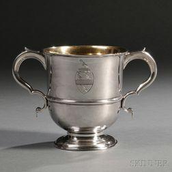 Georgian Channel Islands Silver Porringer or Loving Cup