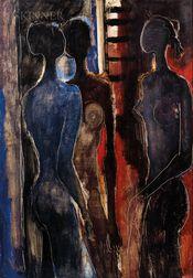 Guillermo Wiedemann (German/Colombian, 1905-1969)      Three Women