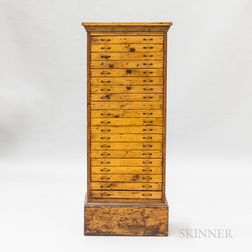 Country Paneled Pine Tall Chest