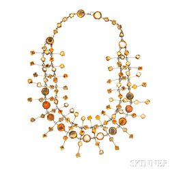 Talosel Resin Mirror Necklace, Line Vautrin