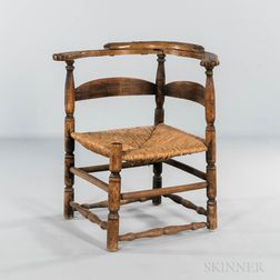 Turned Slat-back Corner Chair