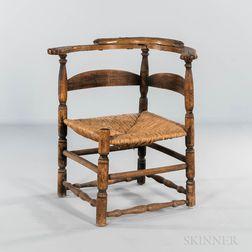 Turned Slat-back Corner Chair