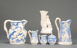 Six Staffordshire Parian Items