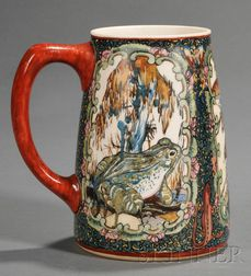 American Belleek Handpainted Porcelain Mug