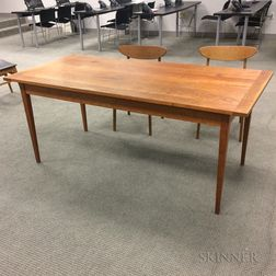 Rectangular Hardwood Tilt-top Table