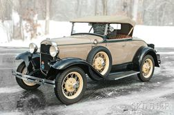 1931 Ford Deluxe Roadster Award Winner