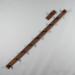 Oak and Chestnut Ten-peg Rack