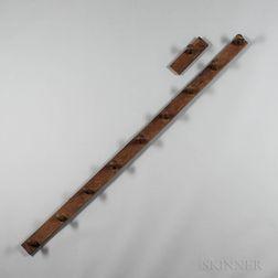 Oak and Chestnut Ten-peg Rack