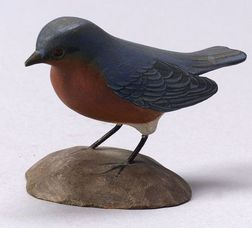 Jess Blackstone Carved Miniature Bluebird Figure