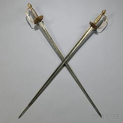 Two British Pattern 1796 Infantry Officer's Swords