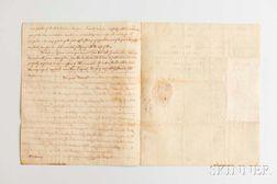 Adams, John Quincy (1767-1848) Autograph Letter, 26 March 1799.
