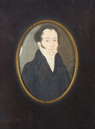 American School, 19th Century  Portrait Miniature of a Gentleman.