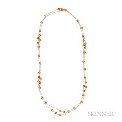 18kt Gold and Citrine Necklace, Tiffany & Co.