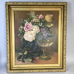 American School, 19th/20th Century    Floral Still Life with Tazza