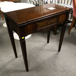 Continental Neoclassical Mahogany Veneer Card Table