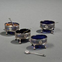 Four George III Sterling Silver Salts